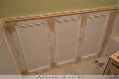 bedroom wall decorating finished recessed panel wainscoting judges paneling with