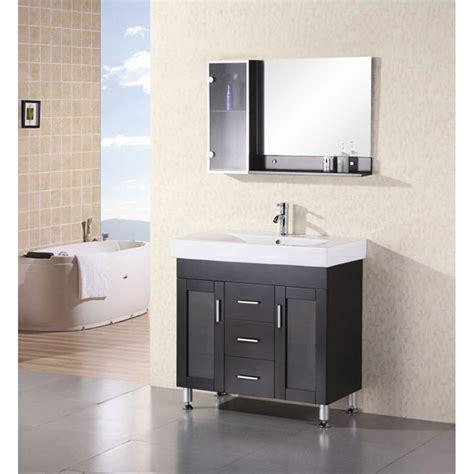 design element milan  bathroom vanity espresso