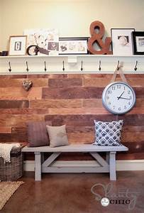 40 cheap diy projects for small apartments With cheap wood planks for walls