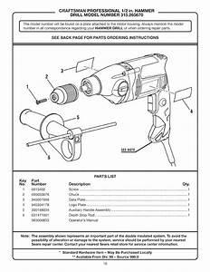 Craftsman 315265670 User Manual Hammer Drill Manuals And