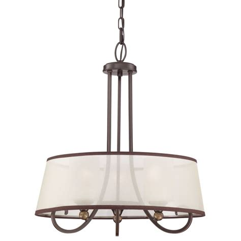 Chandelier With Sheer Drum Shade by Quoizel Plr2820pn Palladian Bronze Palmer 3 Light 20 Quot Wide