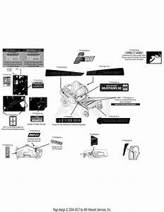 Troy Bilt 17arcacq011 Mustang 50 Xp  2015  Parts Diagram For Label Map 17arcacq011