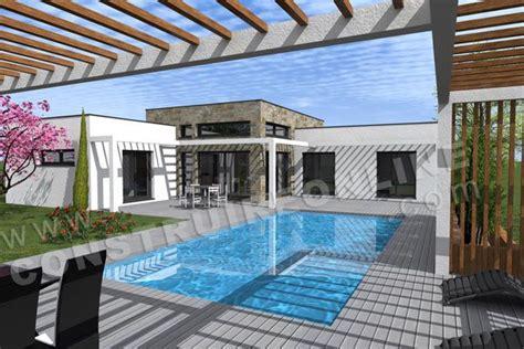 plan maison toit plat 150m2 recherche maison cabanes de piscine