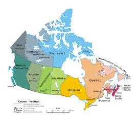 kanada mapa mapy kanady travelin pl