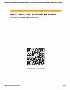 Manual Solution Of Heat Conduction Jiji
