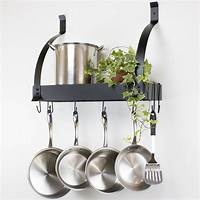 pot and pan hanging rack Best Placing Low Ceiling Pot Rack for Your Kitchen Ideas - TheyDesign.net - TheyDesign.net