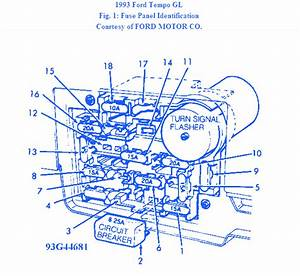Ford Tempo G44681 1997 Fuse Box  Block Circuit Breaker Diagram