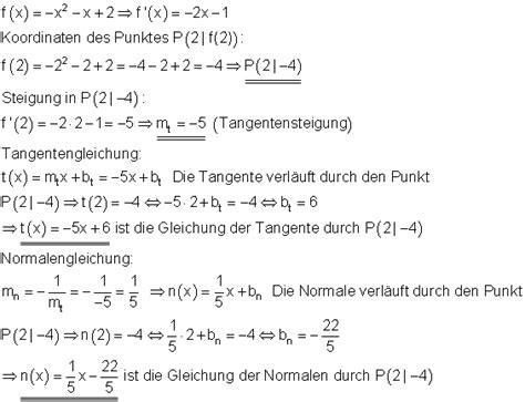 tangente und normale mathe brinkmann