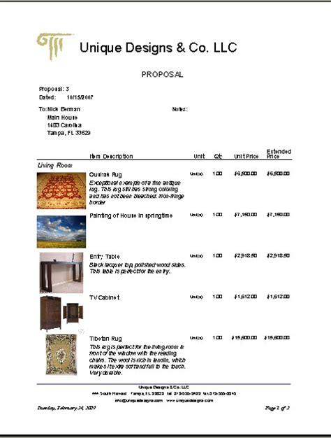 interior design proposal template joy studio design