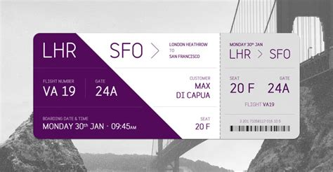beautiful boarding pass designs  hongkiat