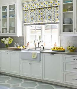 Yellow and gray kitchen contemporary kitchen house for Kitchen colors with white cabinets with large metal letter wall art