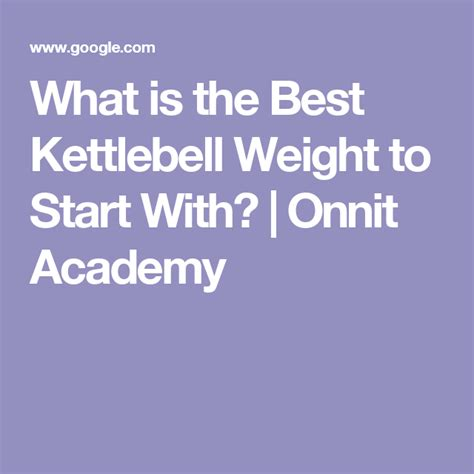 kettlebell google weight