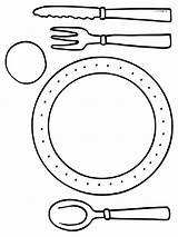 Silverware Pages Template Coloring Templates sketch template