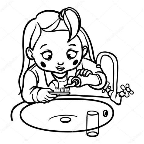 Imágenes: dientes caricatura para colorear niña de