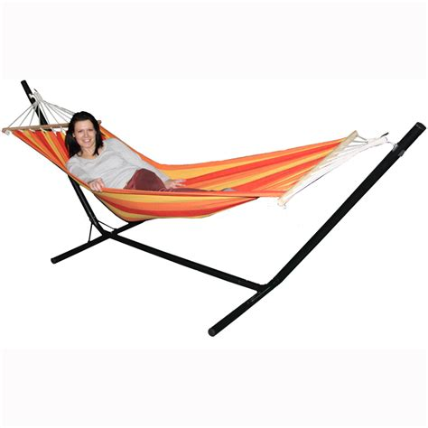 hammock and stand redstone hammock and steel stand garden outdoor lounger