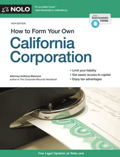 How To Form Your Own California Corporation Pdf by How To Form Your Own California Corporation Legal Books