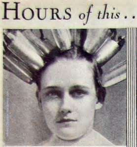 electric permanent wave machine 1920s 1930s   witness2fashion