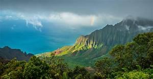 Kalalau, Trail, Hawaii, Kauai, Pacific, Ocean, Clouds