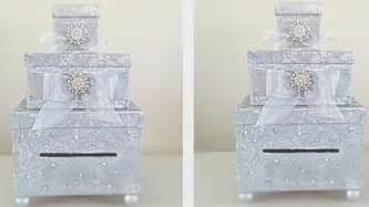 diy three level card box holder wedding 2017 youtube