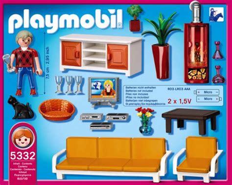 canapé high tech playmobil 5332 jeu de construction salon avec cheminée