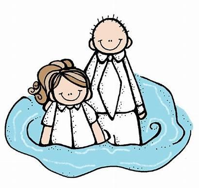 Baptism Clipart Clip Lds Melonheadz