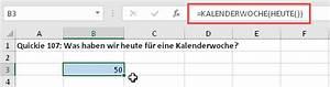 Excel Kalenderwoche Berechnen : excel quickies vol 32 der tabellen experte ~ Themetempest.com Abrechnung