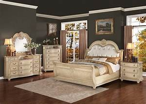 Homelegance Palace II Upholstered Bedroom Set - Antique ...