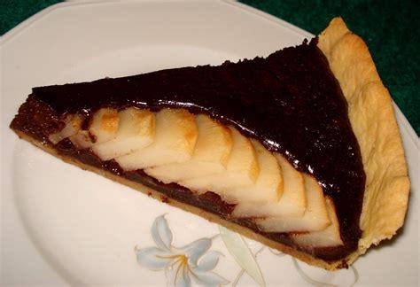 recette tarte poire et chocolat