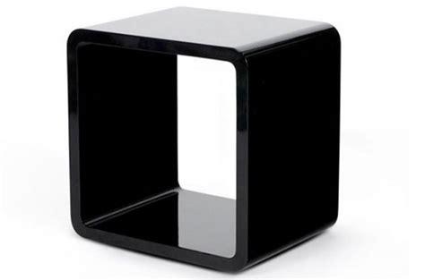 chevet design cube noir laqu 233 tables de chevets pas cher