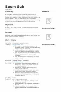 Investment Banking Analyst Resume | printable planner template