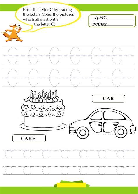 printable alphabet tracing worksheets letter c preschool
