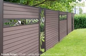 installation de cloture en lames composites ocewood With amenagement exterieur jardin moderne 5 brise vue aluminium moderne jardin angers par
