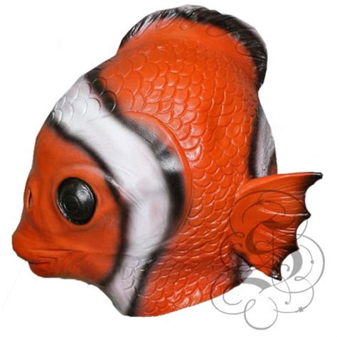latex clown fish mask animal overhead party mask