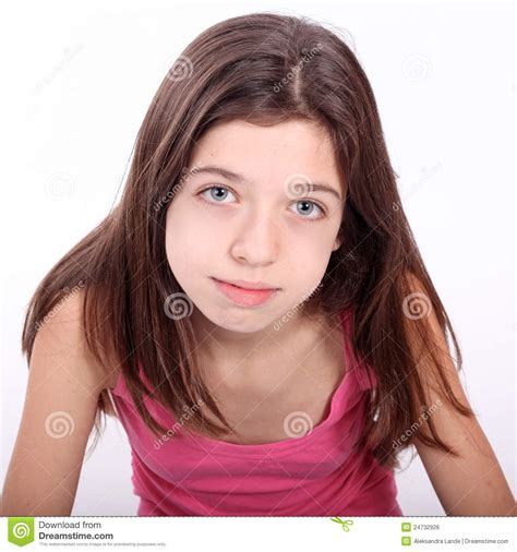 Beautiful Young Teen Girl With Brackets Royalty Free Stock