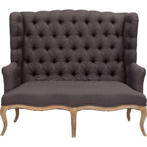 high back settees linen high back settee world market
