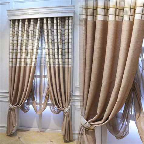 country plaid kitchen curtains simple striped cotton plaid curtains living room bedroom 6195