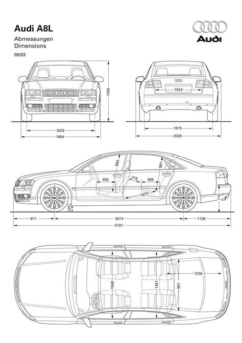 typical dimensions of a car audi a8l 6 0 quattro dimensions