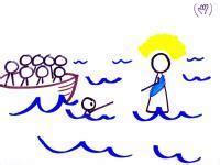 Peter Sinking Jesus Walking On Water