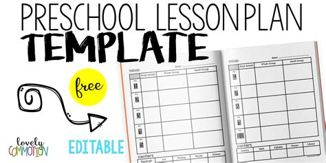 easy and free preschool lesson plan template lovely 750 | preschool lesson plan templates