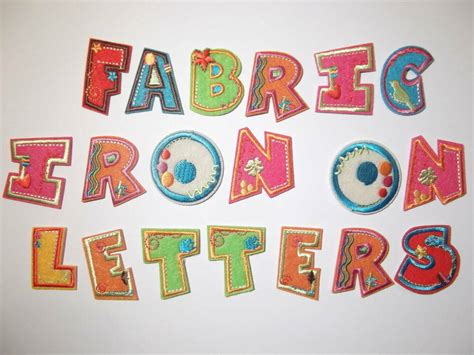Fabric Applique Letters by Fabric Iron On Letters Embroidered Applique Motif On