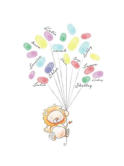 baby shower fingerprint balloons animal baby