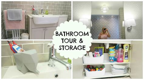 Bathroom Tour & Storage Ideas Youtube