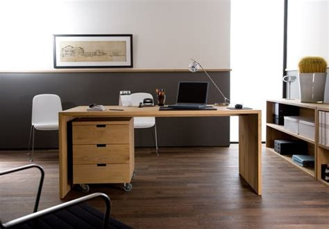 bureau ethnicraft oak office office desk by ethnicraft