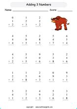 addition math worksheets  math practice exercises