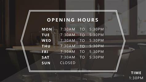 business hours template louiesportsmouthcom