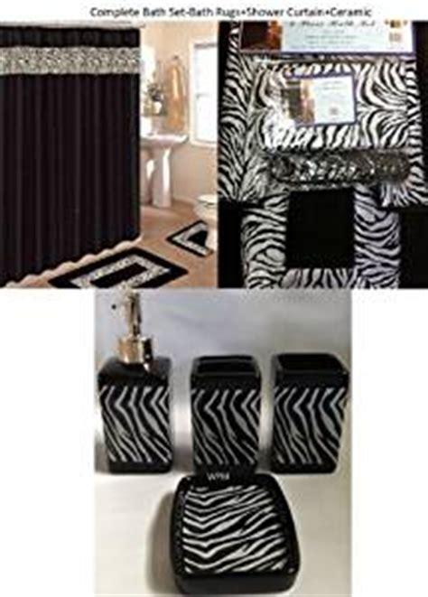 Amazoncom 19 Piece Bath Accessory Set Black Zebra Animal