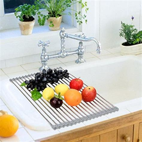hhyn stainless steel roll  dish drying rack