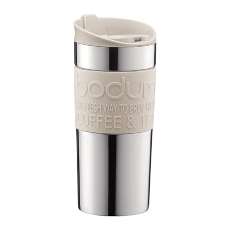 TRAVEL MUG   Vacuum travel mug, small, 0.35 l, 12 oz, s/s Off white   Bodum Online Shop   United