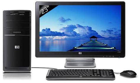 tour pour ordinateur de bureau hp p6356fr m ordinateur de bureau ecran 23 quot 1 to windows 7 ram 4 go