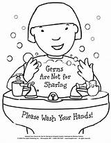 Printable Coloring Hands Wash Worksheets Germs Teach Bathroom Hygiene Preschool Teaching Sharing Science Nursing Schools Bath Class sketch template